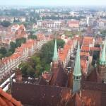 Gdansk - Danzig Ausblick vom Dach der Marienkirche 2011