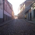 Straße in der Republick Užupis (Litauen) 2011