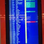 Alles pünktlich außer unser Flug ;-(