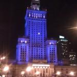 Kulturpalast bei Nacht, Warschau 2011