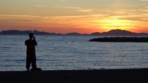 Sonnenuntergang in Marseille