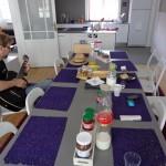 Frühstück im Hostel