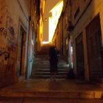 Nachts in Coimbra auf dem Weg zur Uni