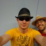 Fabi und Jan - jetzte beide mit Hut :)