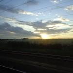 Sonnenuntergang auf dem Heimweg